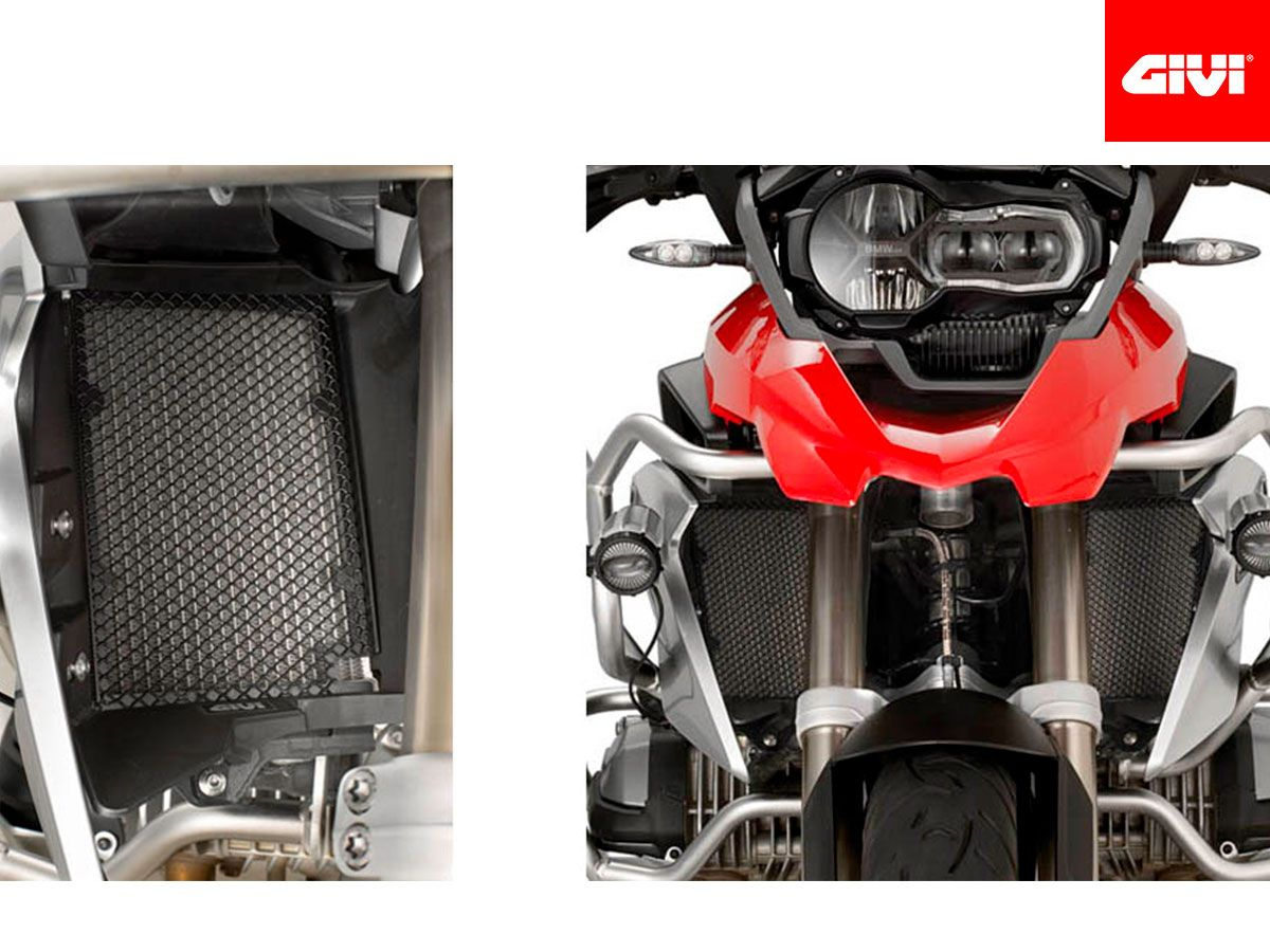 GIVI BLACK STAINLESS STEEL RADIATOR PROTECTION BMW R 1200 GS / ADV 2014-2018