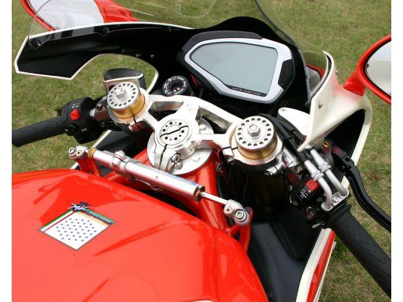 PIASTRA DI STERZO SUPERIORE PER FORCELLA OHLINS 56MM MOTOCORSE MV AGUSTA F4 1000 RC 2012-19