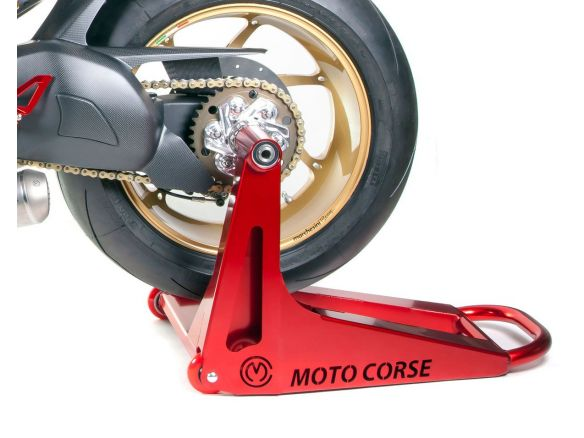 MOTOCORSE SBK ALUMINUM REAR MONO-SIDE PADDOCK STAND DUCATI STREETFIGHTER V4 S 2021