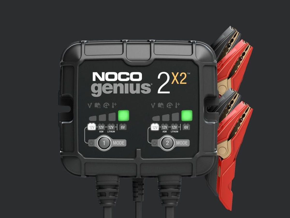 NOCO GENIUS 2 BANK BATTERY CHARGER + MAINTAINER 6V / 12V 4A