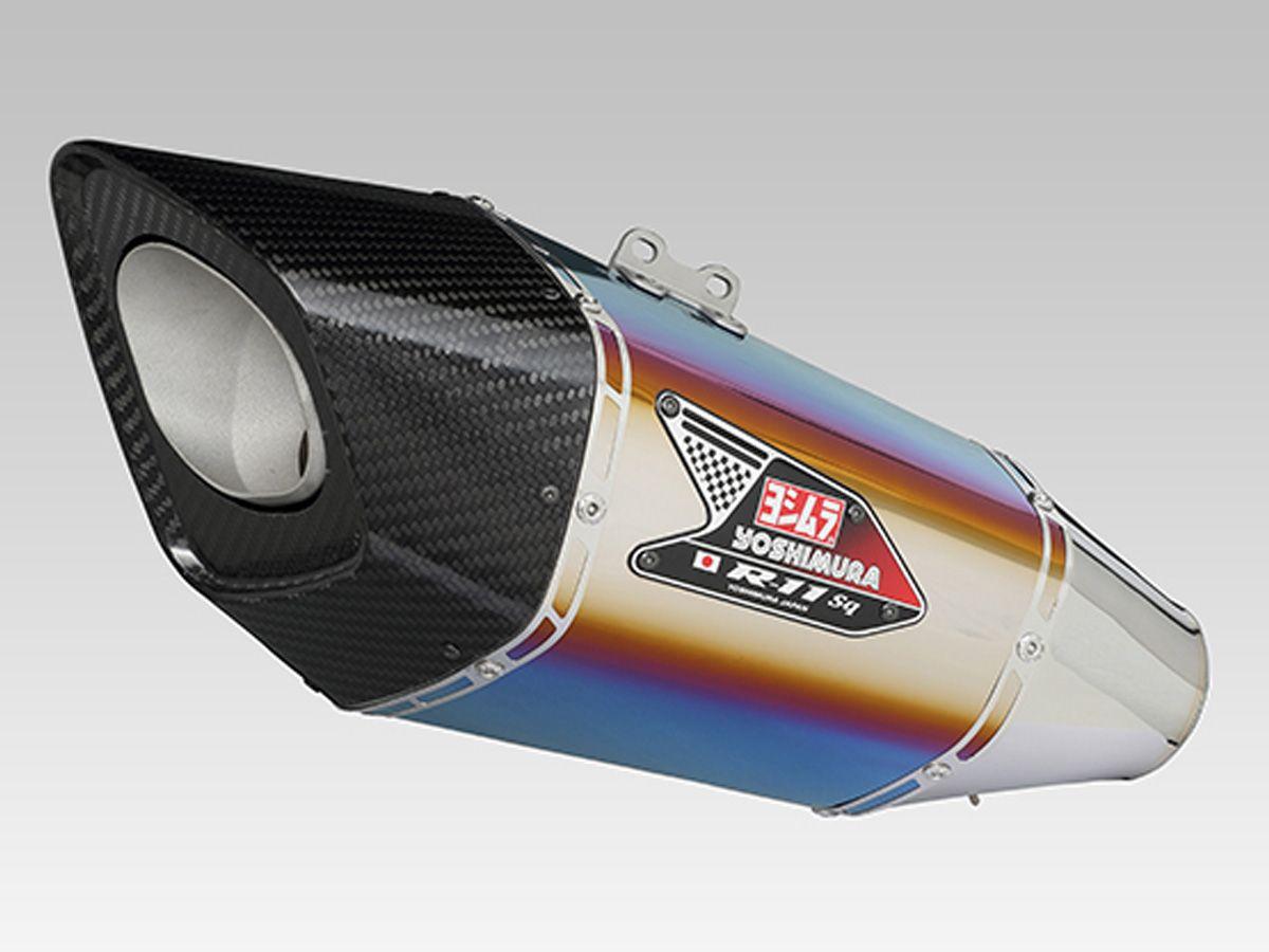 YOSHIMURA TITANIUM BLU R11 SQ EXHAUST SLIP-ON EURO5 KAWASAKI Z900 2020-2021