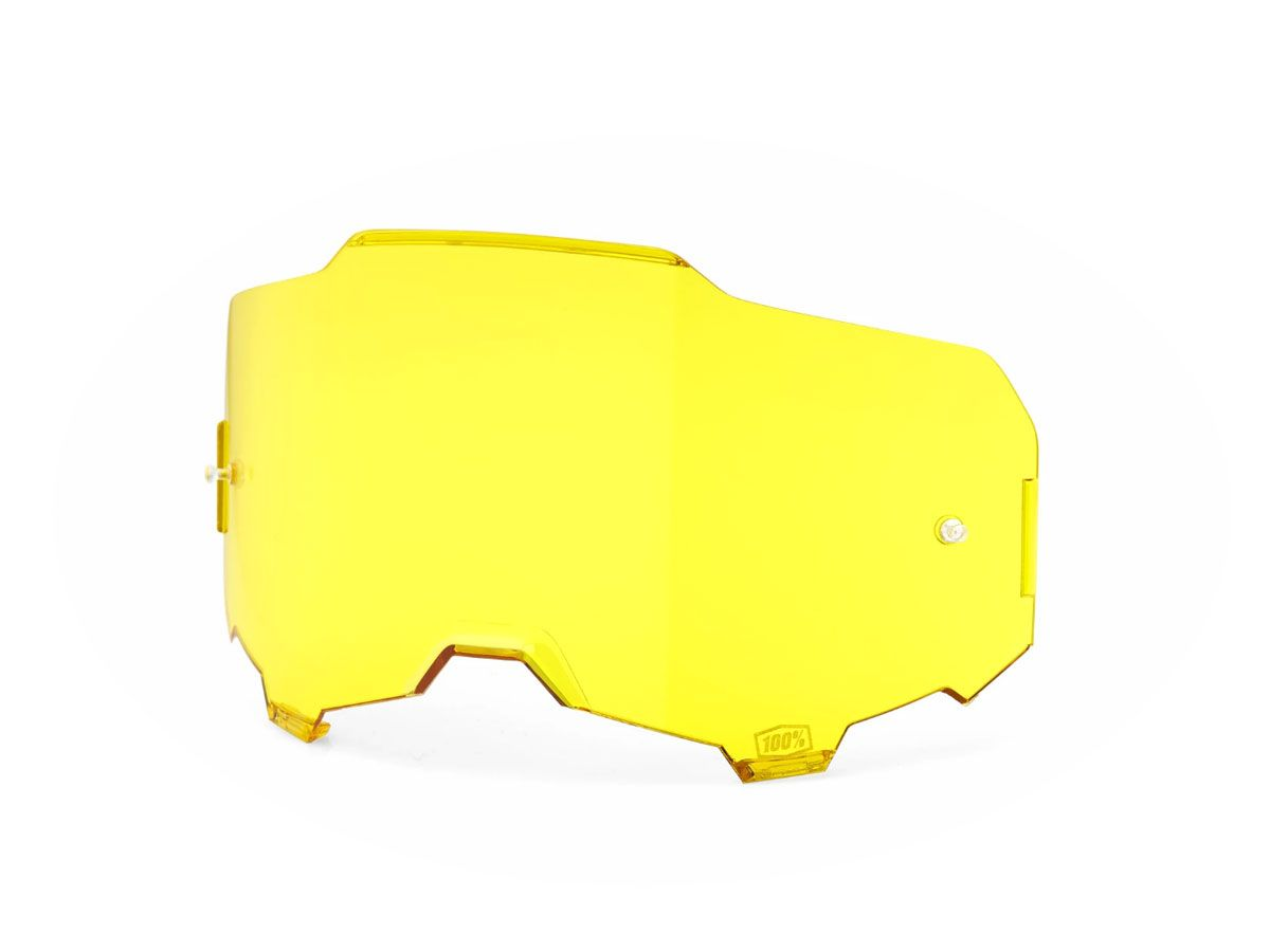 YELLOW REPLACEMENT LENS FOR 100% ARMEGA GOGGLES