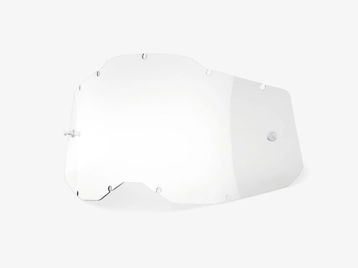 TRANSPARENT REPLACEMENT LENS FOR 100% RC2/AC2/ST2 GOGGLES