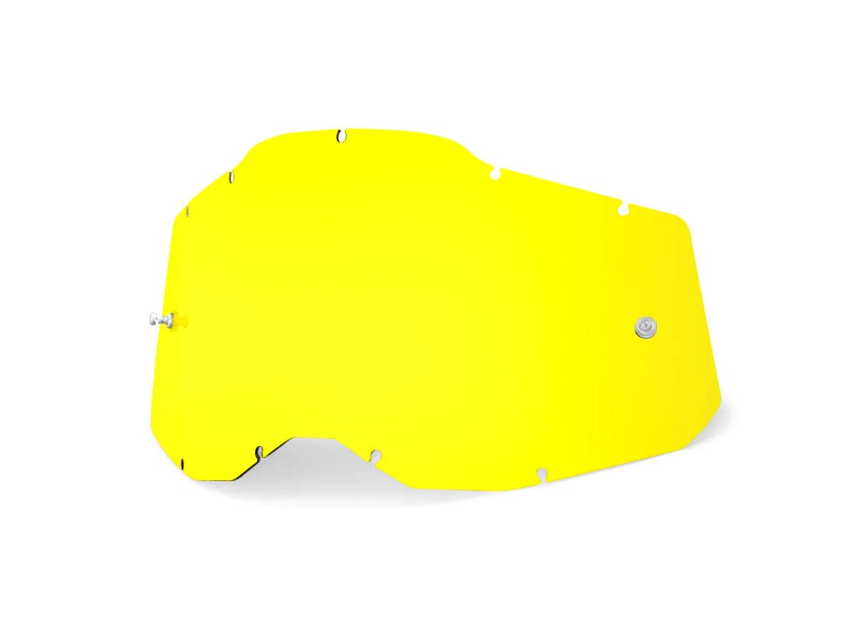 YELLOW REPLACEMENT LENS FOR 100% RC2/AC2/ST2 GOGGLES
