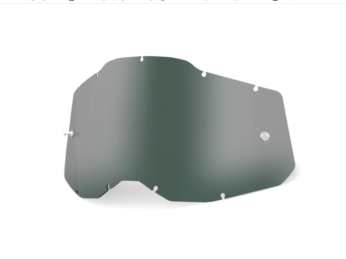 SMOKED REPLACEMENT LENS FOR 100% RC2/AC2/ST2 GOGGLES