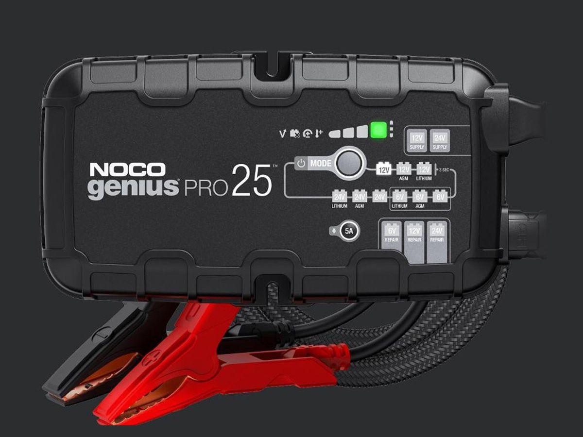 NOCO GENIUS 25PRO BATTERY CHARGER + MAINTAINER 6V / 12V / 24V 25A