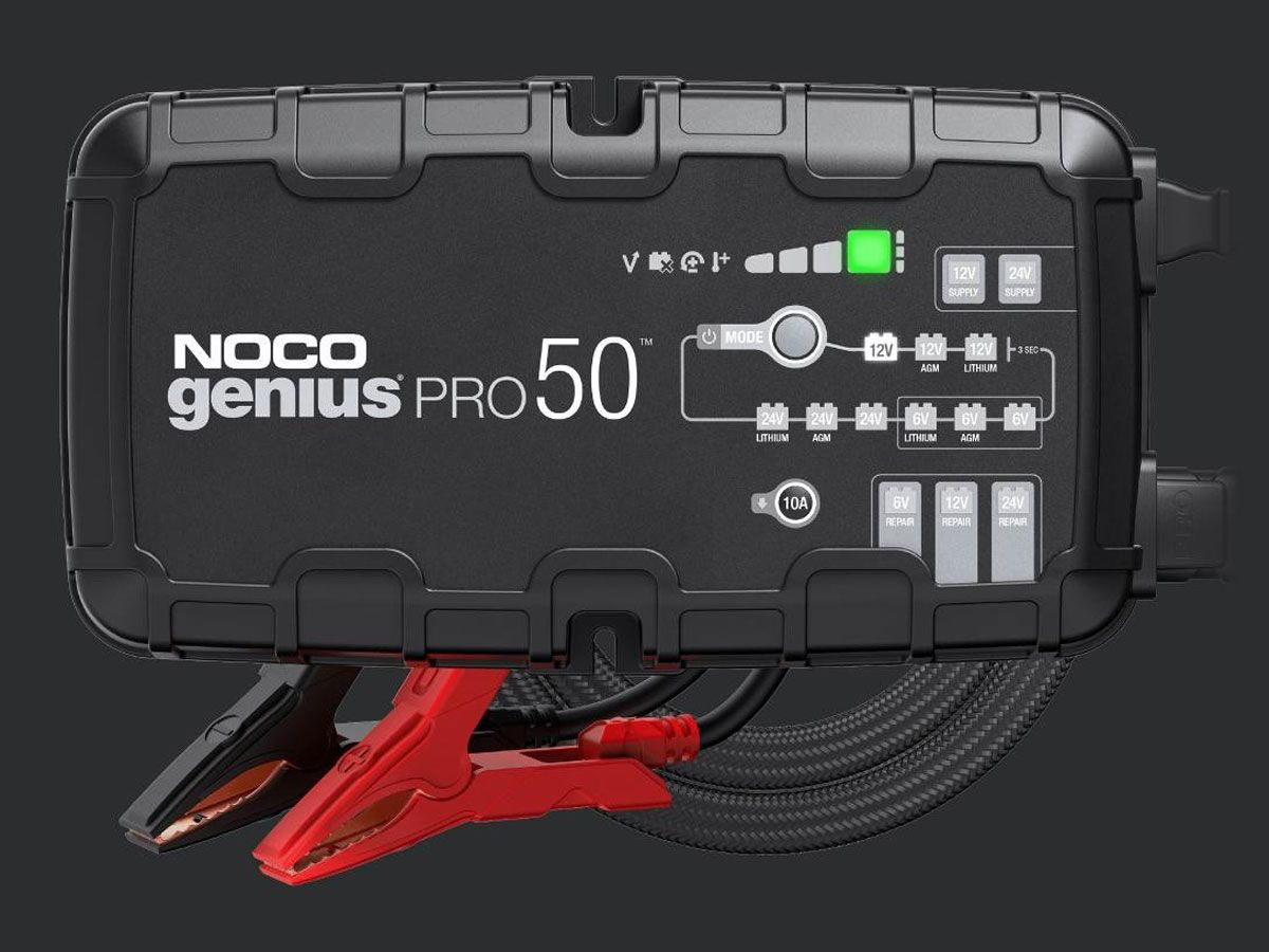 NOCO GENIUS 50PRO BATTERY CHARGER + MAINTAINER 6V / 12V / 24V + DESULFATOR 50A