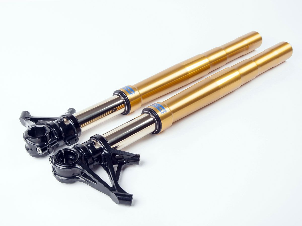 MOTOCORSE OHLINS FRONT FORKS COMPLETE KIT WITH RADIAL MOUNTS + TRIPLE CLAMPS + CLIP-ON BARS MV AGUSTA SUPERVELOCE 800