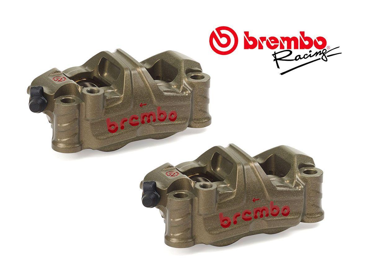 PAR DE PINZAS DE FRENO RADIALES BREMBO RACING GP4-RR 100MM P4 32/36 2021