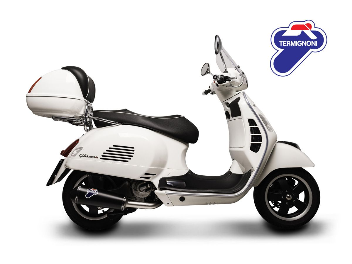 silencer racing termignoni inox black vespa gts 250 300. Black Bedroom Furniture Sets. Home Design Ideas
