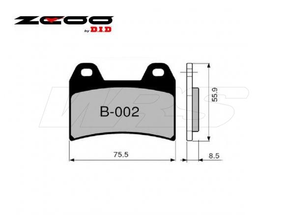 FRONT SET ZCOO BRAKE PAD B002EX DUCATI 998 BIPOSTO / Matrix 2002-