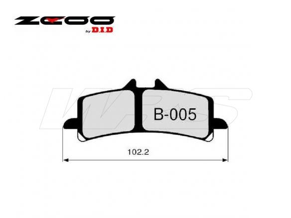 FRONT SET BRAKE PADS ZCOO B005EXC SUZUKI GSX-R 600 2011-2017