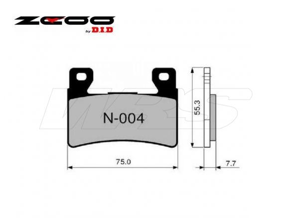 FRONT SET BRAKE PADS ZCOO N004EXC HONDA CBR 600 RR 2003-2004