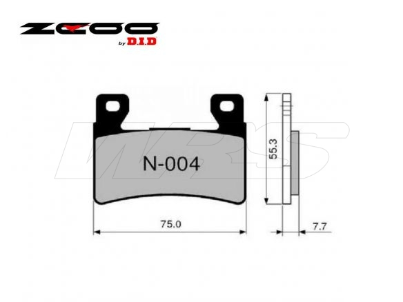 FRONT SET BRAKE PADS ZCOO N004EXC HONDA CB 400 SUPER FOUR (SF) 1999-