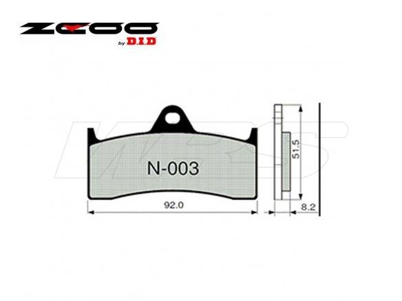 FRONT SET ZCOO BRAKE PAD N003EX MV AGUSTA BRUTALE 750 S 2001-
