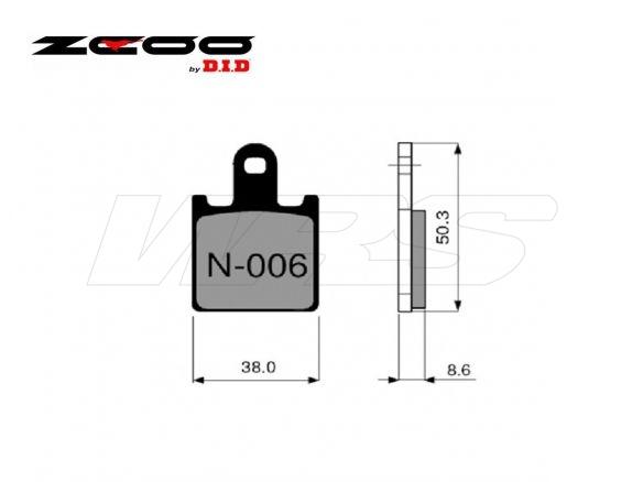 FRONT SET BRAKE PADS ZCOO N006EXC KAWASAKI ZZR 1400 + ABS 2006-