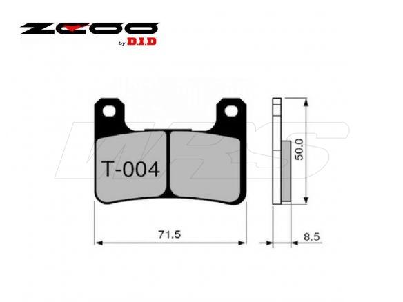 FRONT SET BRAKE PADS ZCOO T004EXC KAWASAKI Z 1000 SX / ABS 2011-