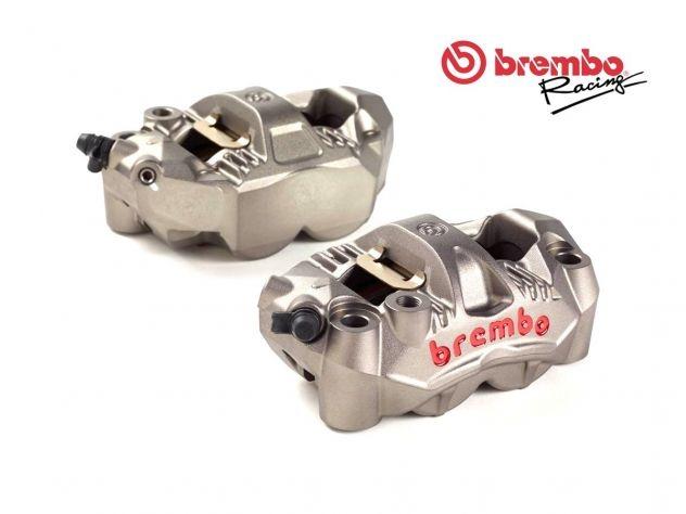 COPPIA PINZE FRENO RADIALI BREMBO RACING GP4-RS MONOBLOCCO 108MM