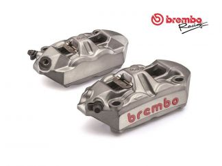 KIT COPPIA PINZE FRENO RADIALI BREMBO RACING M4 MONOBLOCCO 100MM