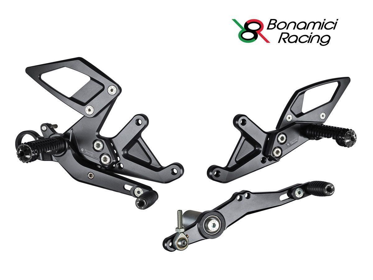 ADJUSTABLE REAR SETS KIT BONAMICI RACING BMW S 1000 RR 2015-2018