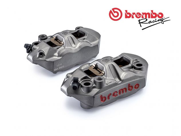KIT PINZE FRENO M4 BREMBO RACING MONOBLOCCO 108MM + SET PASTICCHE