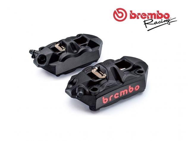 RADIAL BRAKE CALIPERS KIT BLACK BREMBO RACING M4 MONOBLOCK 100MM