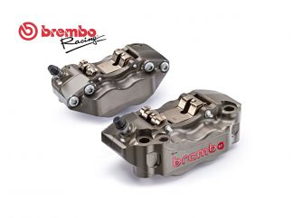 KIT COPPIA PINZE FRENO RADIALI CNC BREMBO RACING P4 30/34 108MM