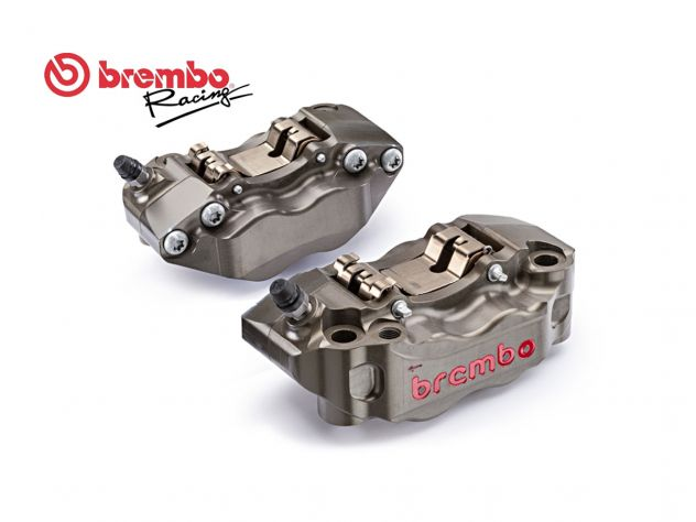 KIT COPPIA PINZE FRENO RADIALI CNC BREMBO RACING P4 30/34 108MM