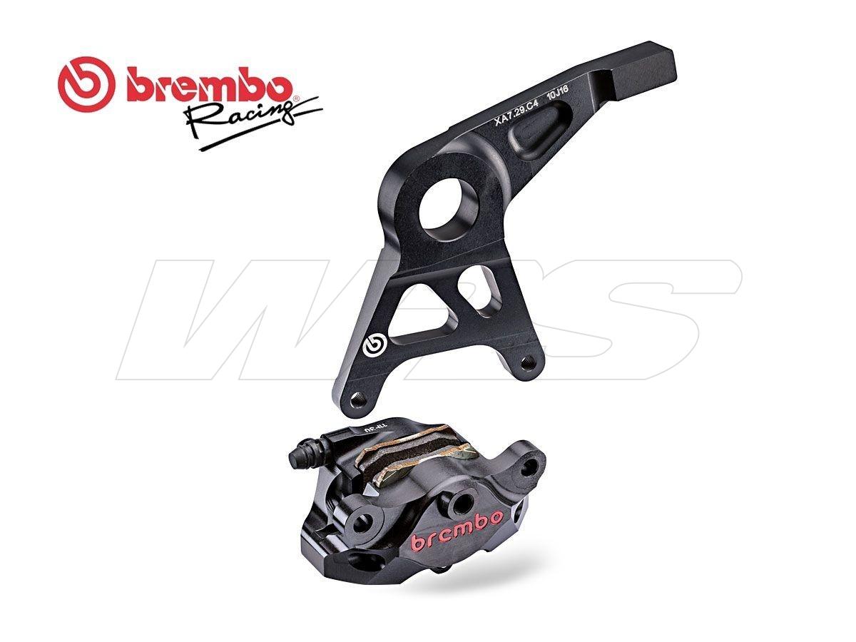 120a44136 Brembo Rear Brake Caliper Kit P2 34 Cnc Black Suzuki Gsx R 1000 2009 2016