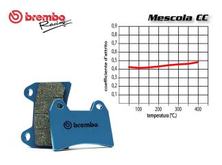 SET PASTIGLIE FRENO POSTERIORE BREMBO PIAGGIO X8 ie right caliper 400 2006 IN POI