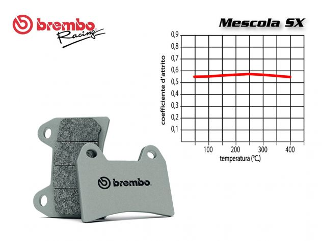 FRONT BREMBO PADS SET BREMBO BOMBARDIER-CAN AM OUTLANDER MAX LEFT 800 2013 IN POI
