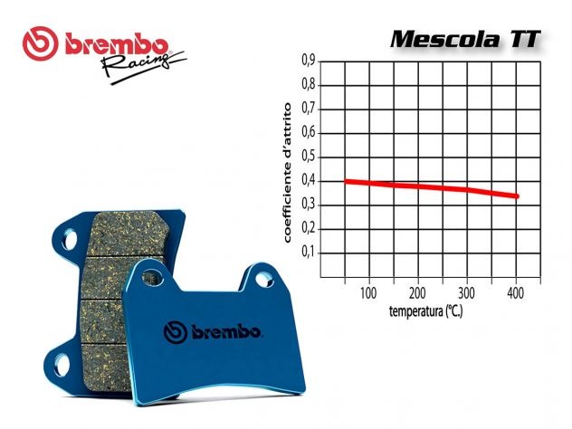 BREMBO REAR BRAKE PADS SET DERBI GPR 125 2005 +