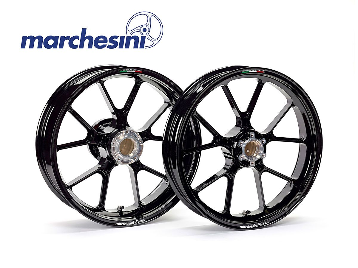 FORGED ALUMINUM RIMS MARCHESINI M10RS KOMPE DUCATI MONSTER 795 AFTER 2012 POST.RIDOTTO