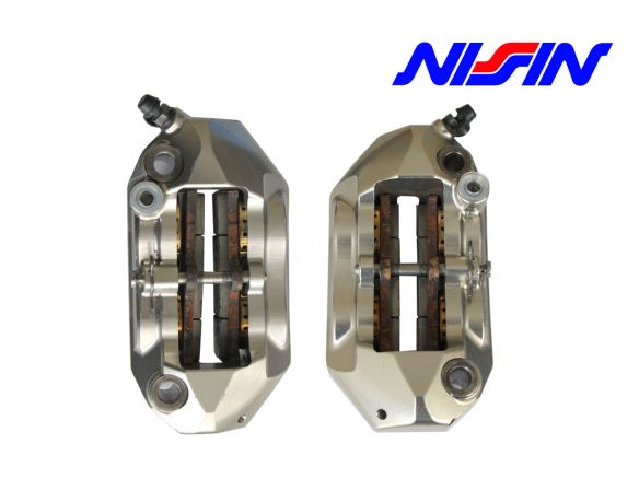 PAIR BRAKE RADIAL CALIPERS NISSIN 108MM MONOBLOCK ENDURANCE USED
