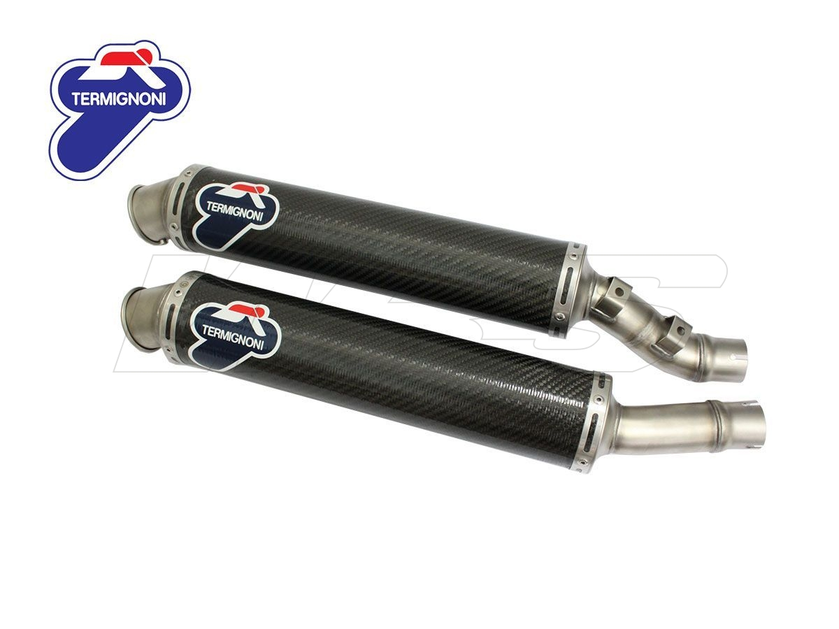 TERMIGNONI APPROVED PAIR EXHAUST SILENCERS 45 DUCATI MONSTER S4R / S4RS 998