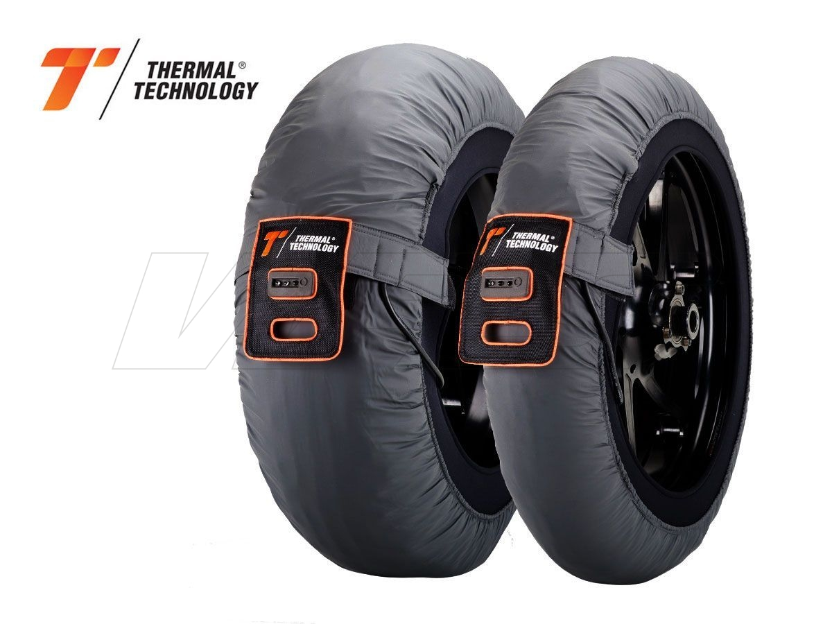 TYRE WARMERS PAIR RACE THERMAL TECHNOLOGY SUPERMOTO SIZE M