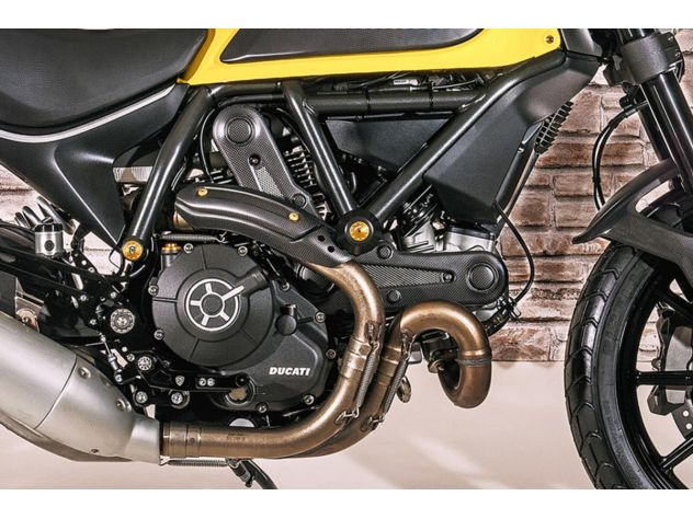 Carbon Auspuff Abdeckung Verkleidung Ducati Scrambler 2015