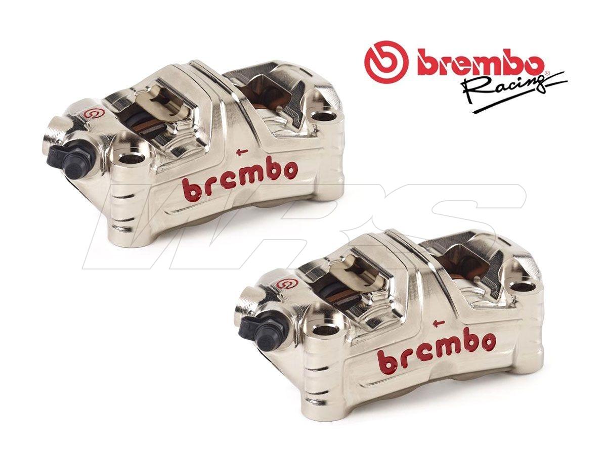 220D60010 PAR DE PINZA DE FRENO RIADIALES BREMBO RACING 100MM GP4-MS MONOBLOQUE