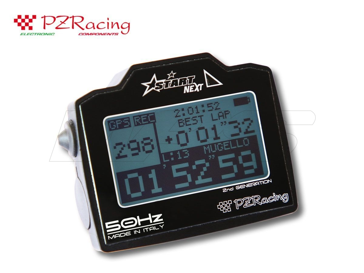 CHRONOMETER DASHBOARD DATA ACQUISATION SYSTEM GPS 50HZ PZRACING START NEXT