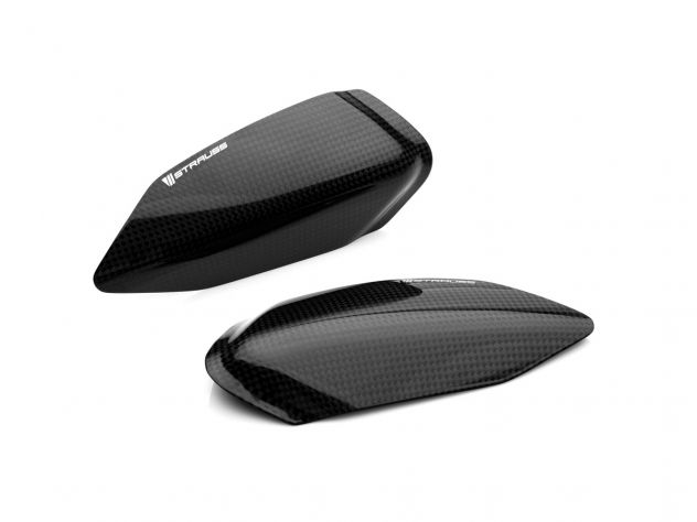 PAIR TANK CARBON COVERS STRAUSS...