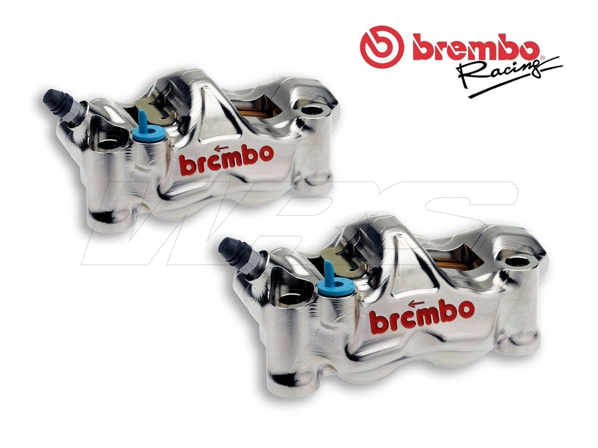 PAIR OF RADIAL BRAKE CALIPERS BREMBO RACING GP4-RX CNC P4 32 100MM