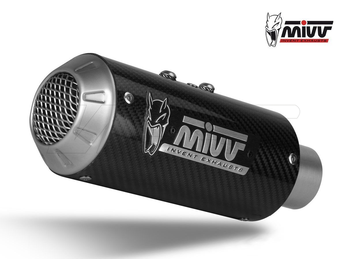 SILENCER MIVV SLIP-ON M3 STEEL BLACK KAWASAKI NINJA 125 2019