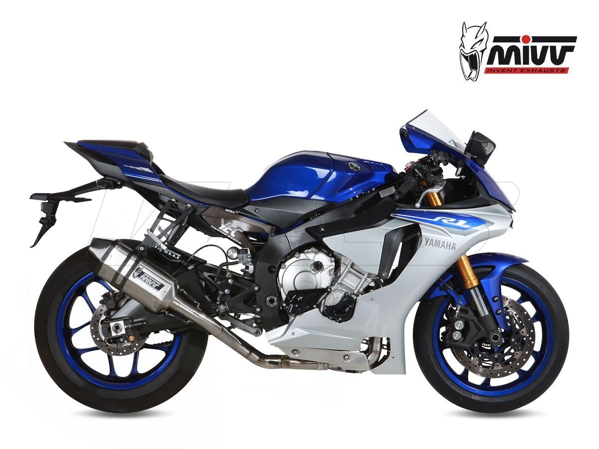 COMPLETE EXHAUST 4X2X1 MIVV SPEED EDGE STAINLESS STEEL YAMAHA YZF R1 2015-2020