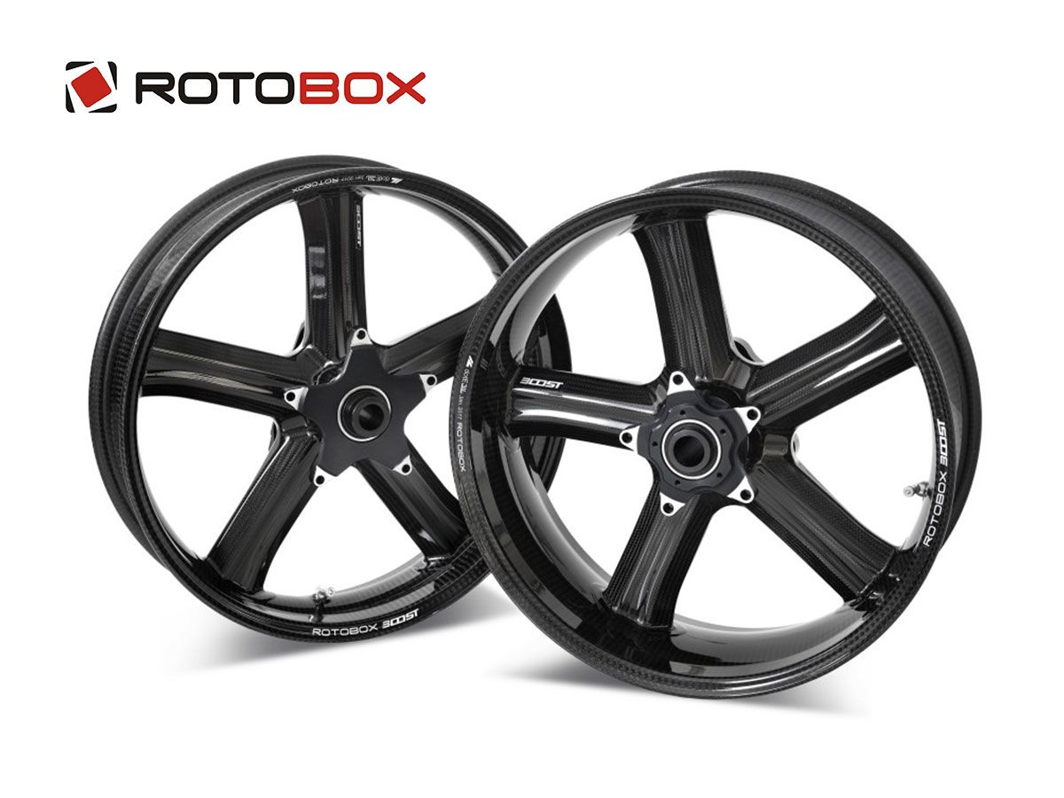 PAIR CARBON RIMS ROTOBOX BOOST APRILIA TUONO V4 1100 FACTORY