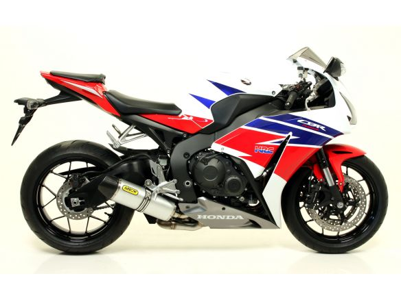 TERMINALE INDY ALLUMINIO WHITE PER COLLETTORI ARROW HONDA CBR 1000 RR 2014-2016