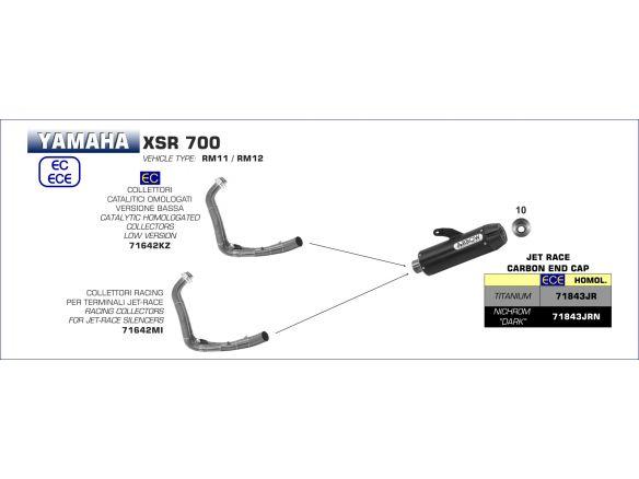 TERMINALE JET RACE ARROW TITANIO YAMAHA XSR 700 2016-2018