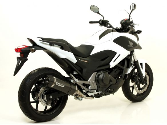 TERMINALE RACE TECH ARROW ALLUMINIO DARK CARBONIO HONDA NC 750 X 2014-2015
