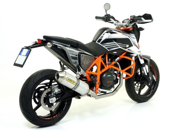 SILENCER RACE TECH ARROW ALUMINUM DARK CARBON KTM DUKE 690 2012-2015