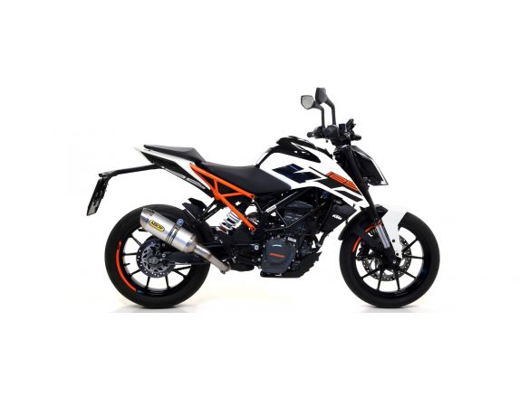 TERMINALE THUNDER ARROW ALLUMINIO DARK INOX KTM DUKE 125 2017-2018