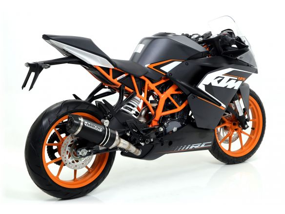 TERMINALE THUNDER ARROW ALLUMINIO DARK INOX KTM RC 125 2015-2016